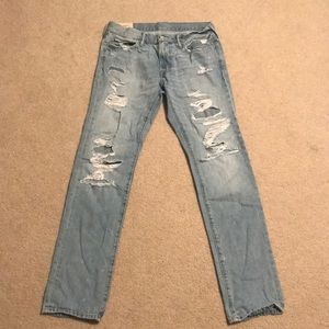 Abercrombie & Fitch Men's Skinny Jean Destroyed